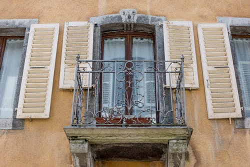 Free stock photo of balcony, glass window, old window, vintage
