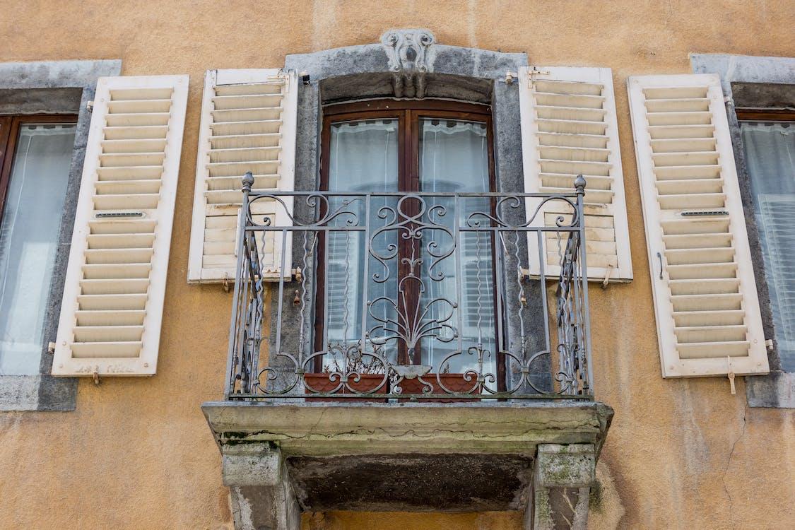 낡은 창문, 발코니, 빈티지