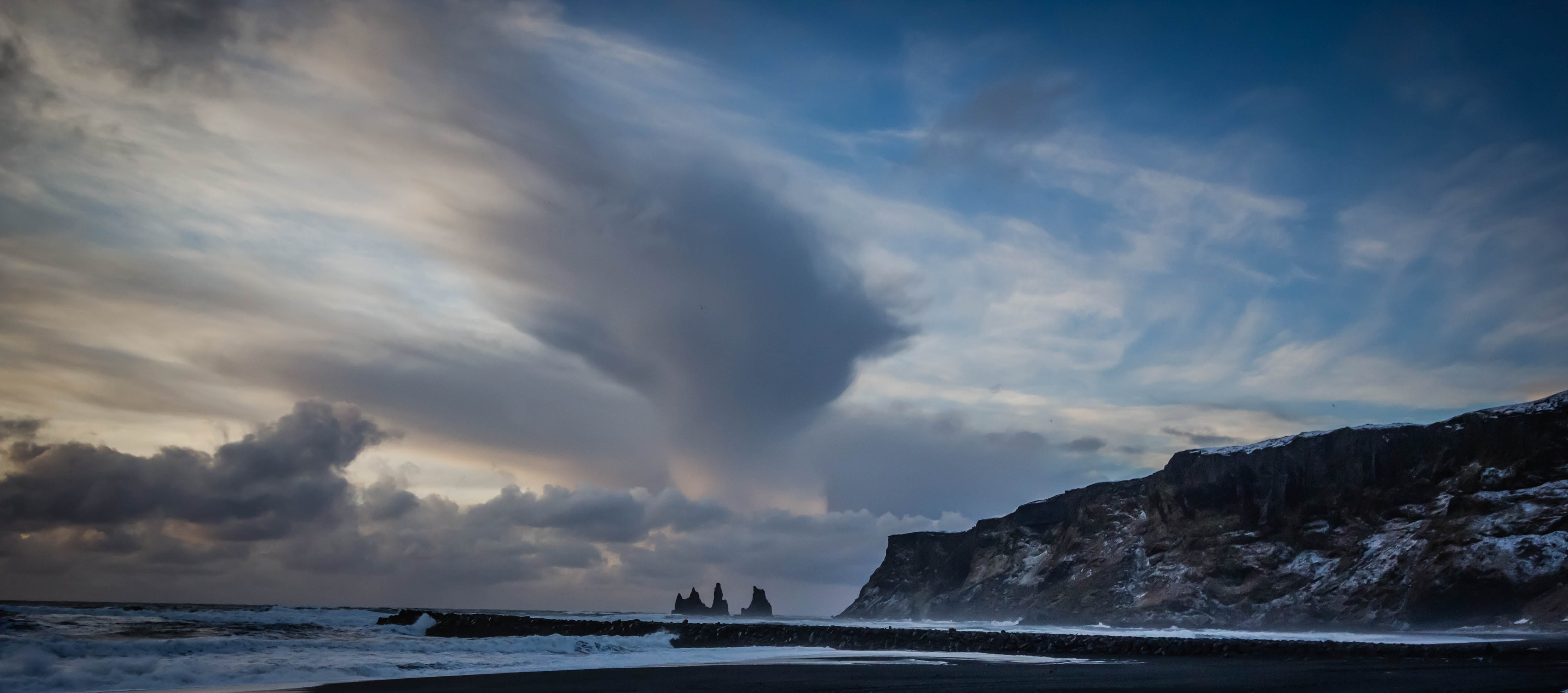 Free stock photo of beach, black sand, iceland, vik