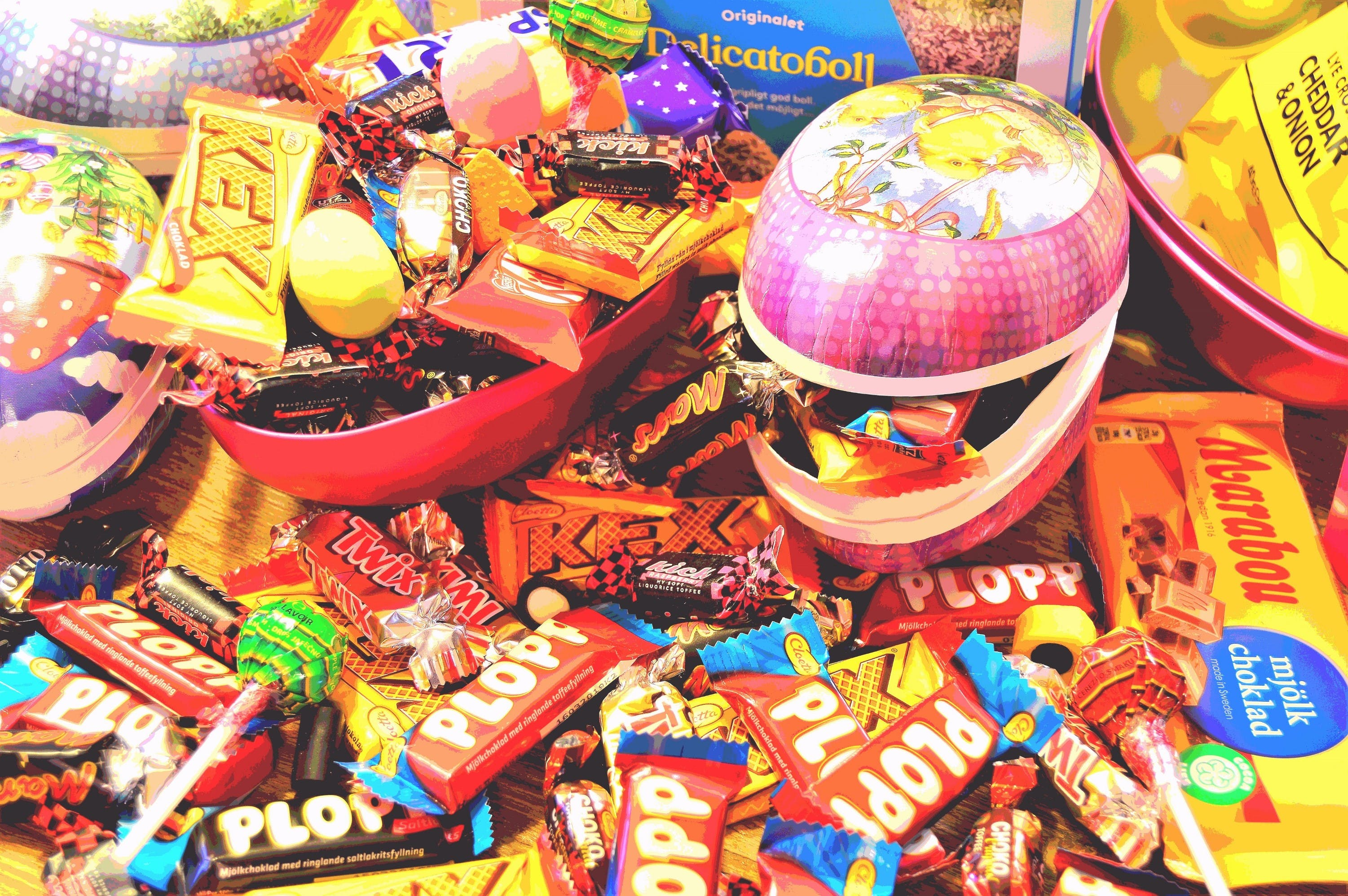 Free stock photo of table, inside, easter, candy