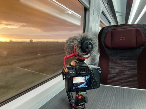 Free stock photo of camera, filming, sunset