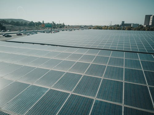 Photo of solar panel array