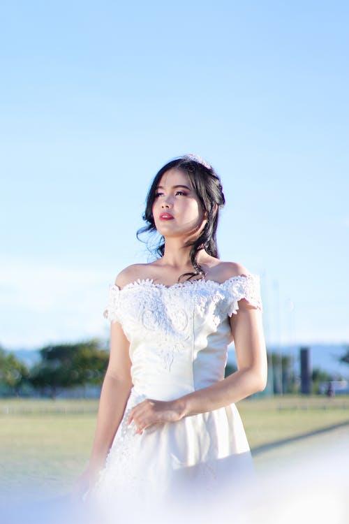 女人, 女孩, 婚禮, 婚紗禮服 的 免费素材图片