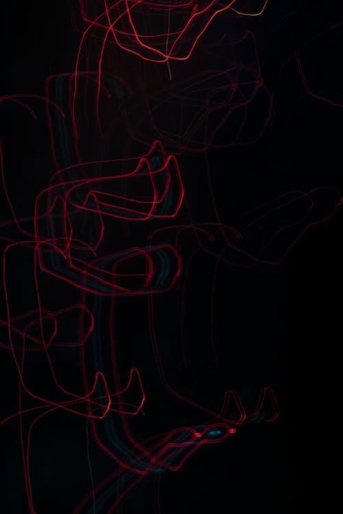 คลังภาพถ่ายฟรี ของ กลางคืน, สว่าง, สีแดง
