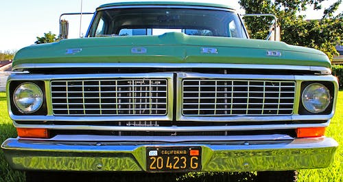 Free stock photo of ford, green color, truck