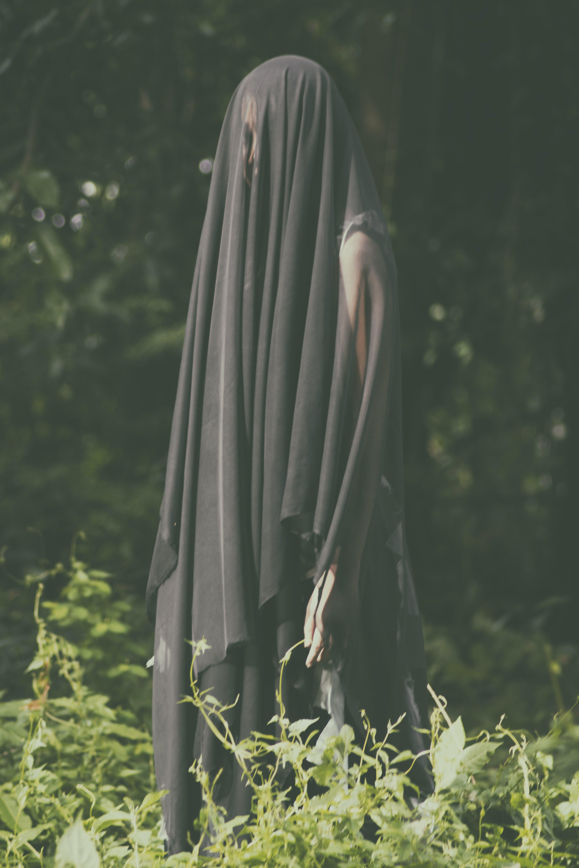Free stock photo of black lady, creepy, ghost, halloween