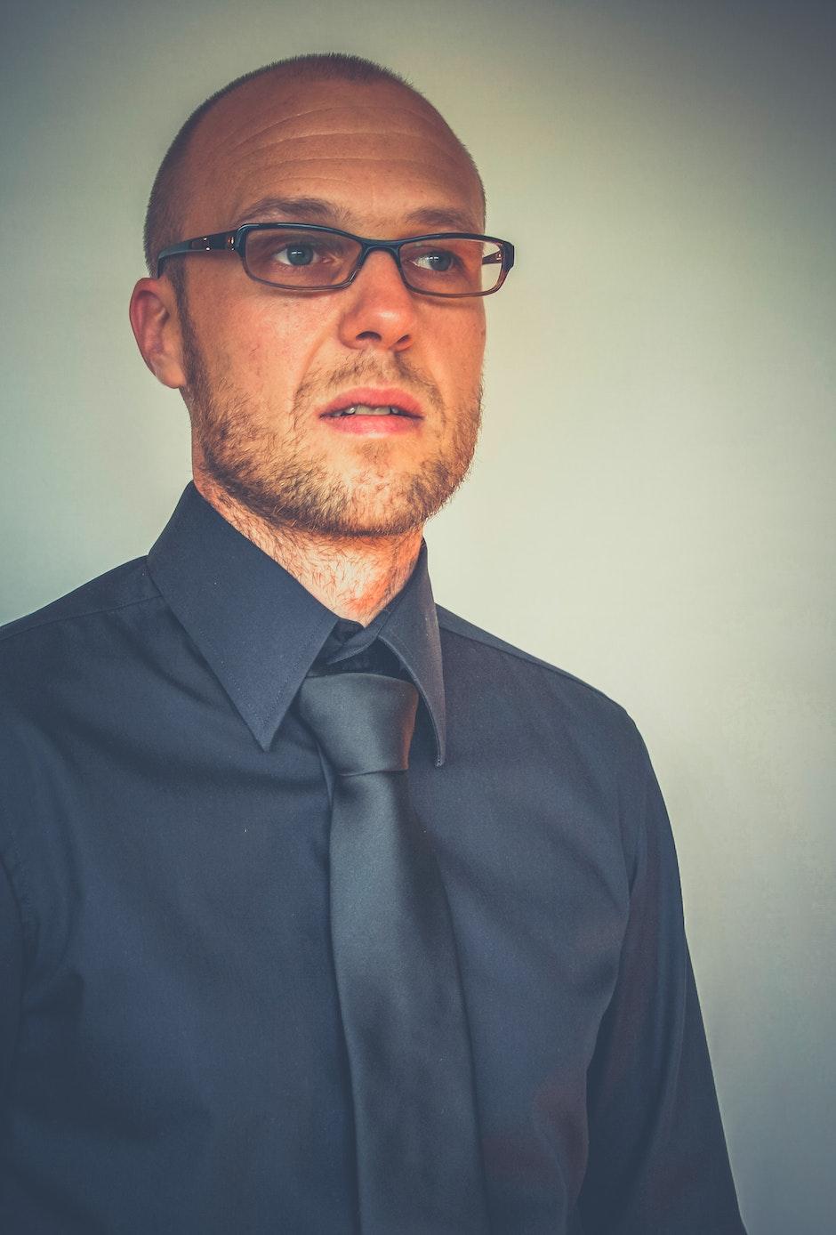 adult, eye glasses, man