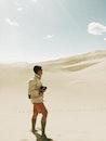 man, person, sand