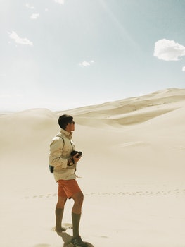 Free stock photo of man, person, sand, desert