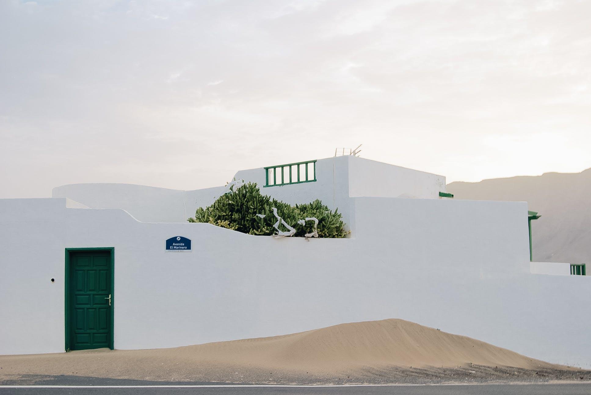 White Concrete House