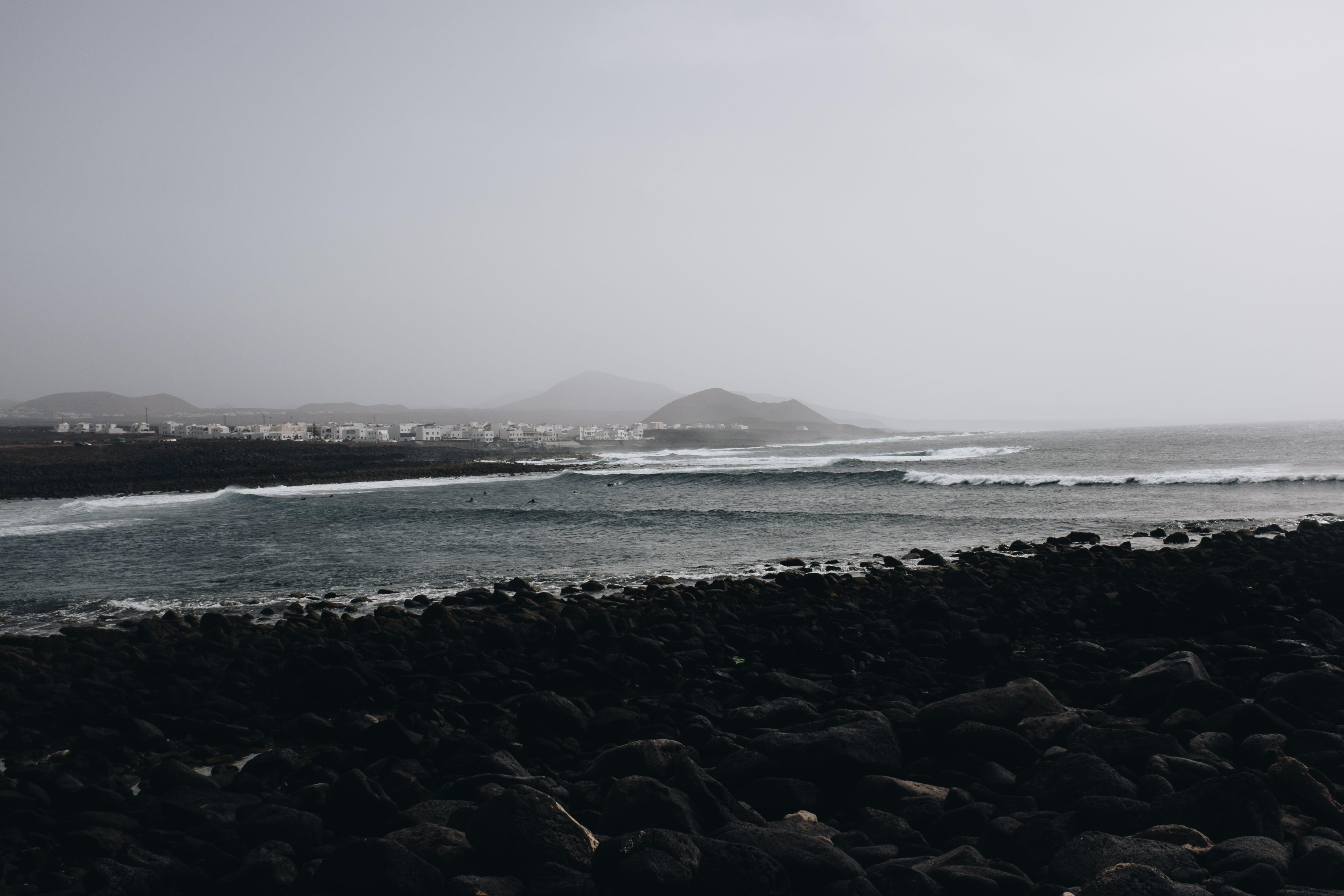 Seashore Beside Mountain