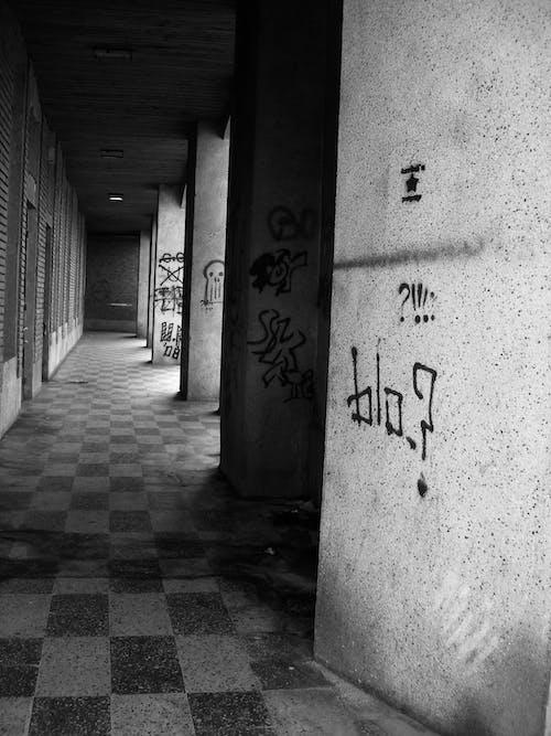 塗鴉, 室內, 灰色混凝土, 藝術 的 免费素材照片