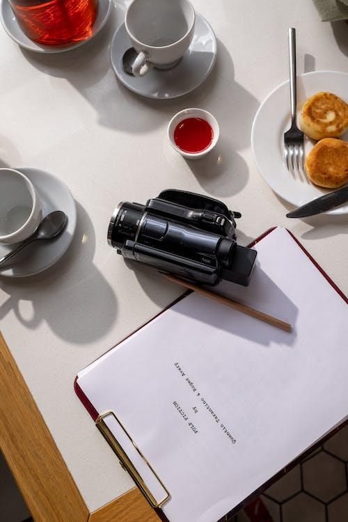 Δωρεάν στοκ φωτογραφιών με cafe, ακριβώς πάνω, βιντεοκάμερα