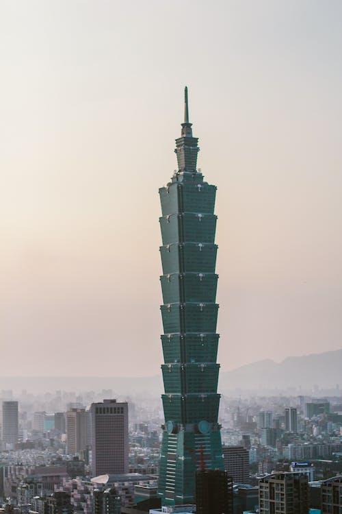alto, architettura, centro città