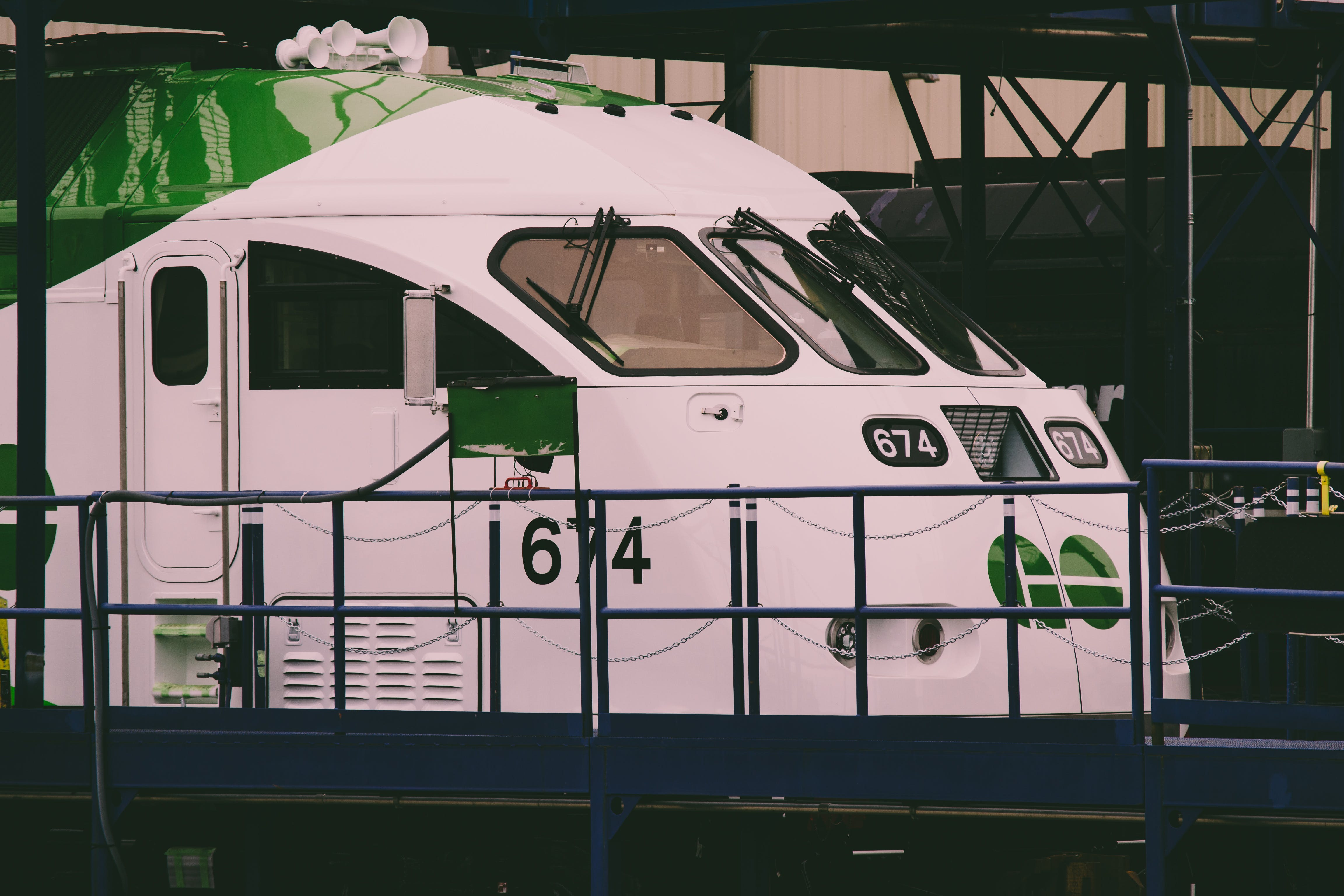 White And Green Train