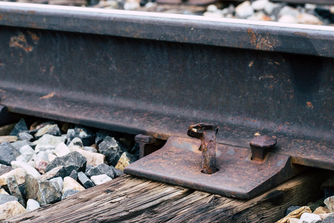 acier, chemin de fer, fer