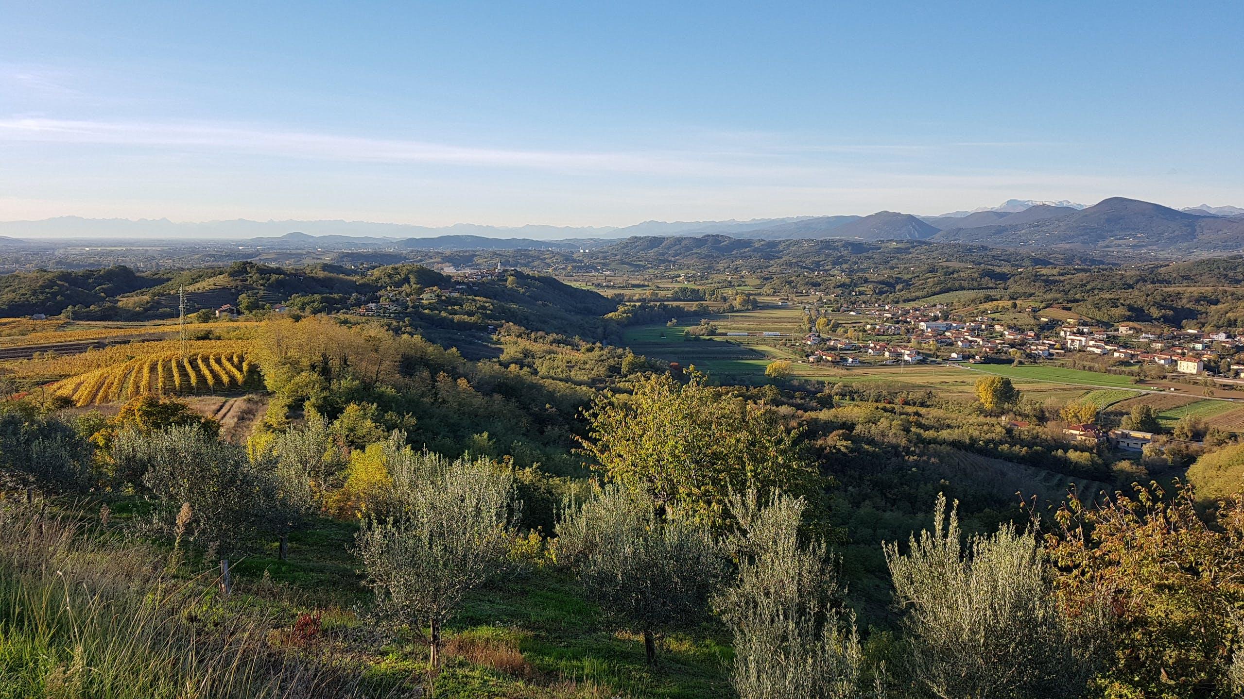 campo, colina, montaña