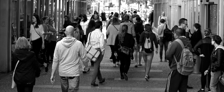 bevölkerung, fußgänger, gehen