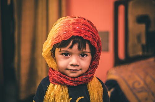 Girl Wearing Headscarf