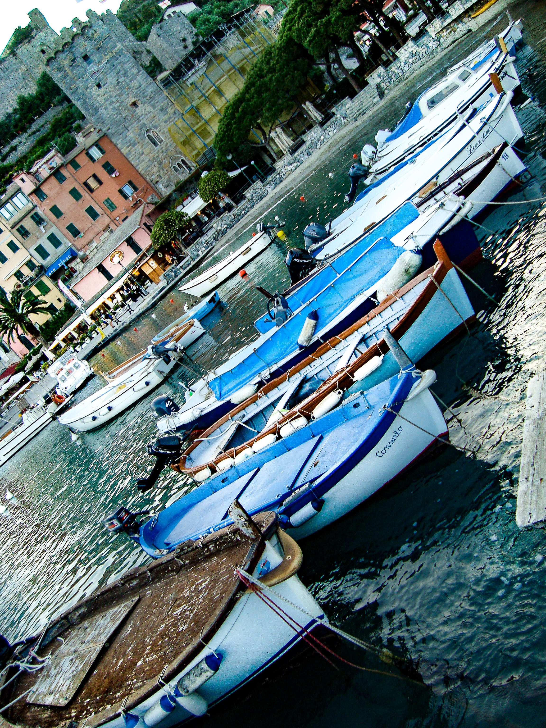 Free stock photo of boats, colorful houses, copy space, italy