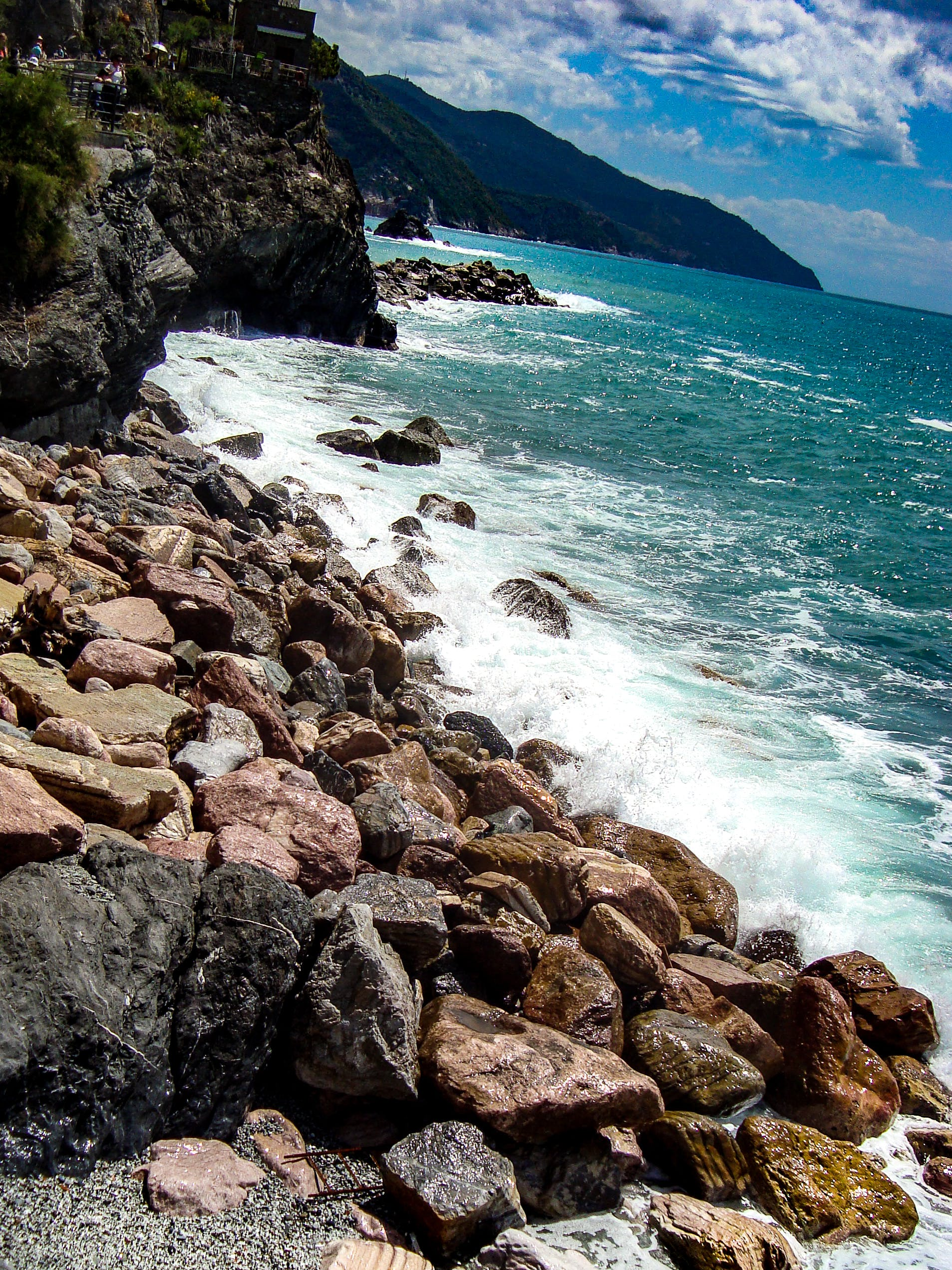 cinque terre, ακτή, βράχια