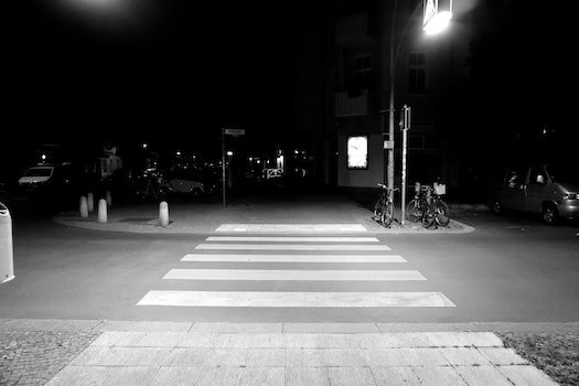 Free stock photo of night, street, dark, pedestrian crossing