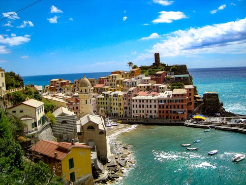 Free stock photo of architecture, boats, cinque terre, colorful houses