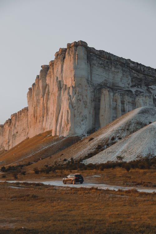 Car and mountain