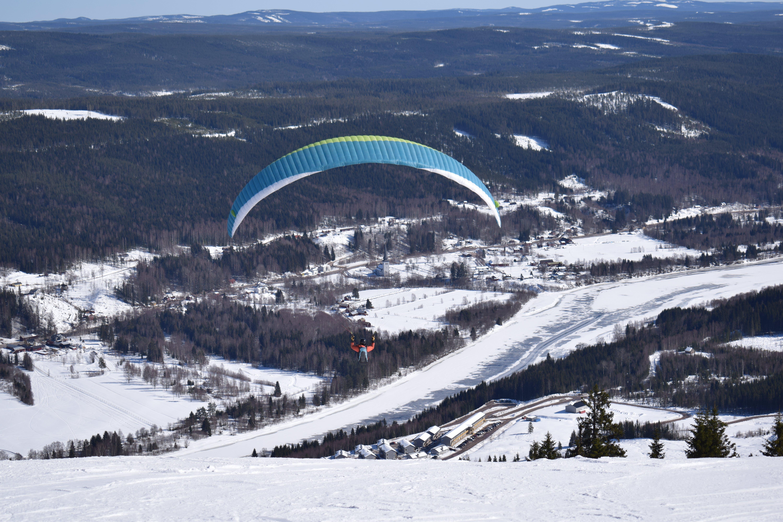 Free stock photo of parashoot, skiing resort, sweden