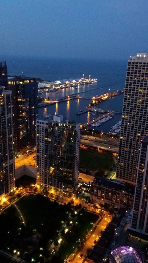 Free stock photo of chicago, chicago highrise, chicago night, chicago skyline