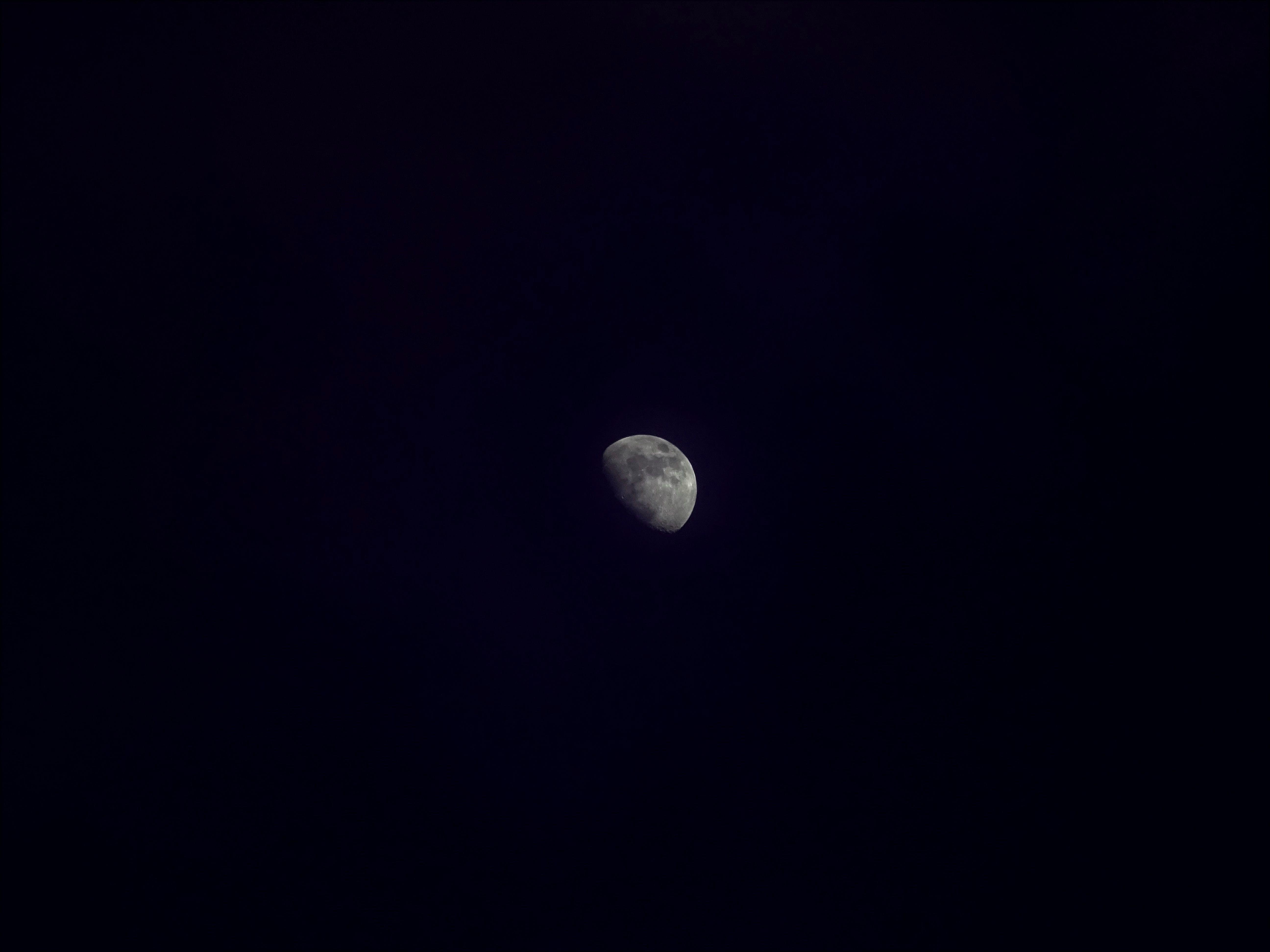 スペース, ダーク, ルナ, 半月の無料の写真素材