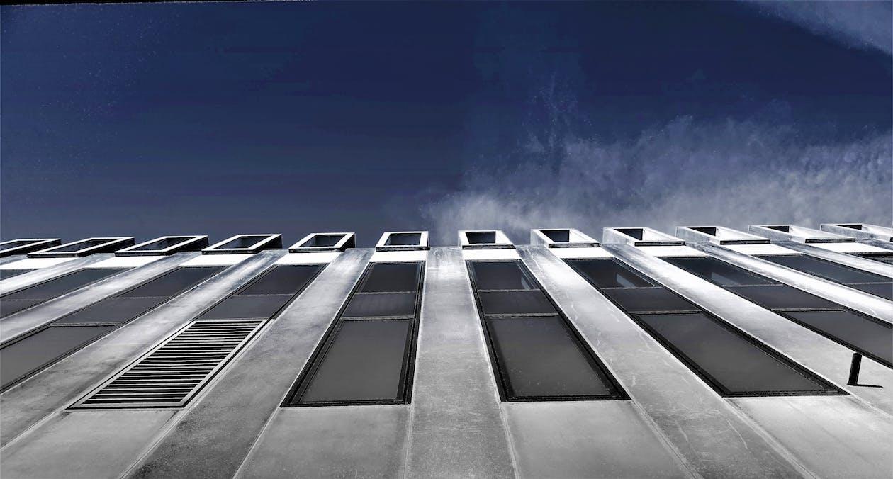 alb-negru, arhitectură, birou