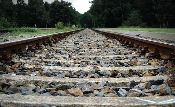 Free stock photo of rails, straight, railway, gravel