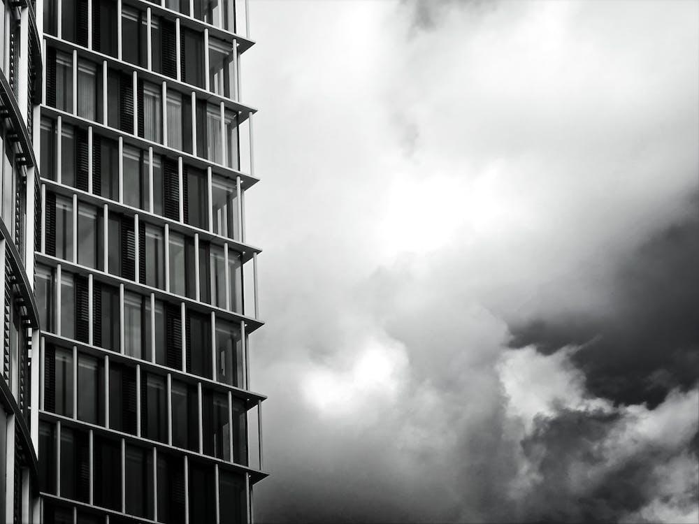 低角度拍攝, 城市, 天空