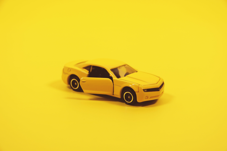auto, camaro, gelb