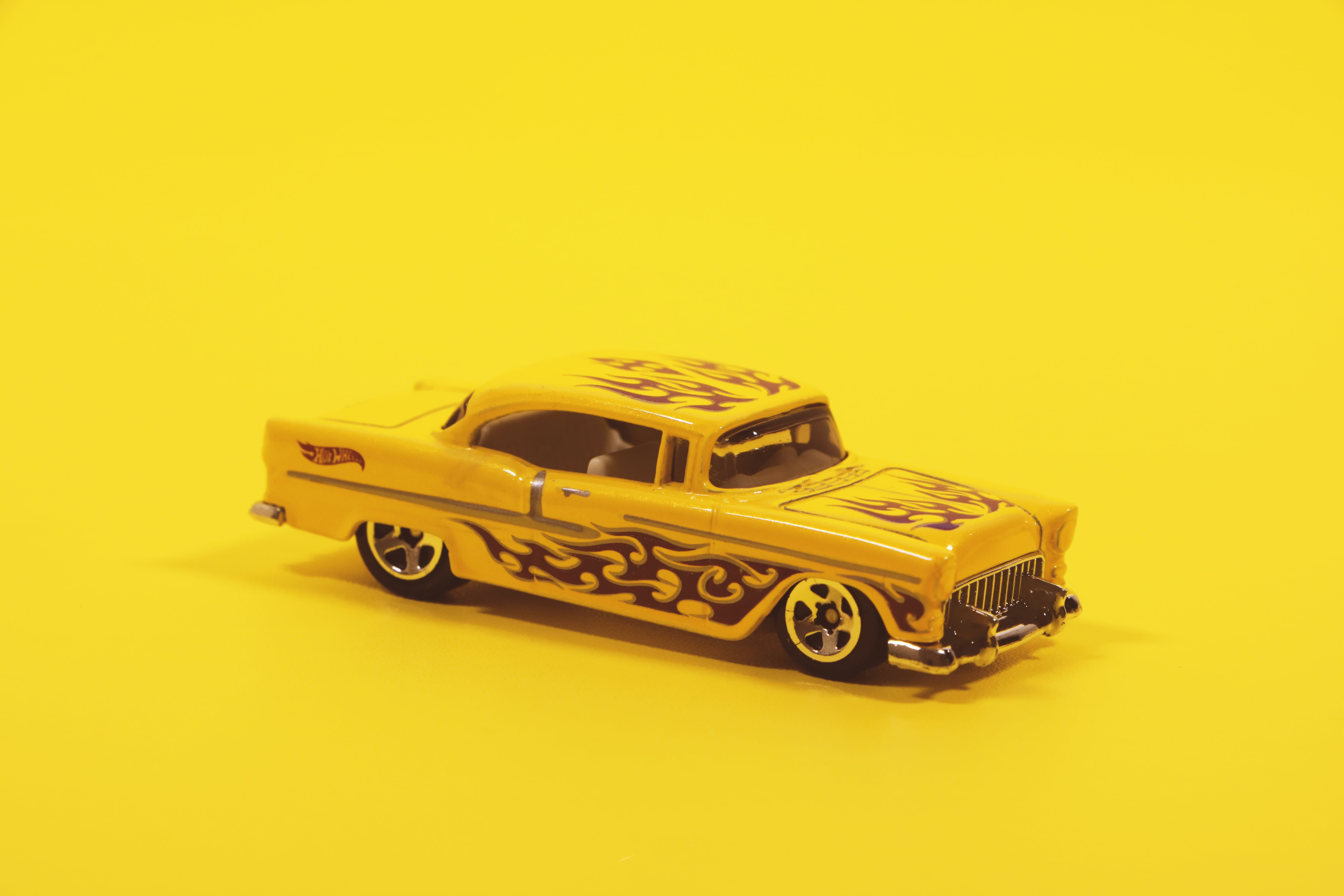 Yellow and Black Coupe Scale Model