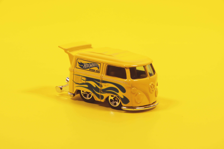 Yellow Hot Wheels Volkswagen Bus