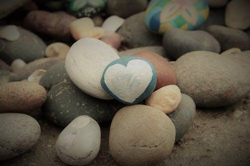 Free stock photo of heart, love, stones pebbles