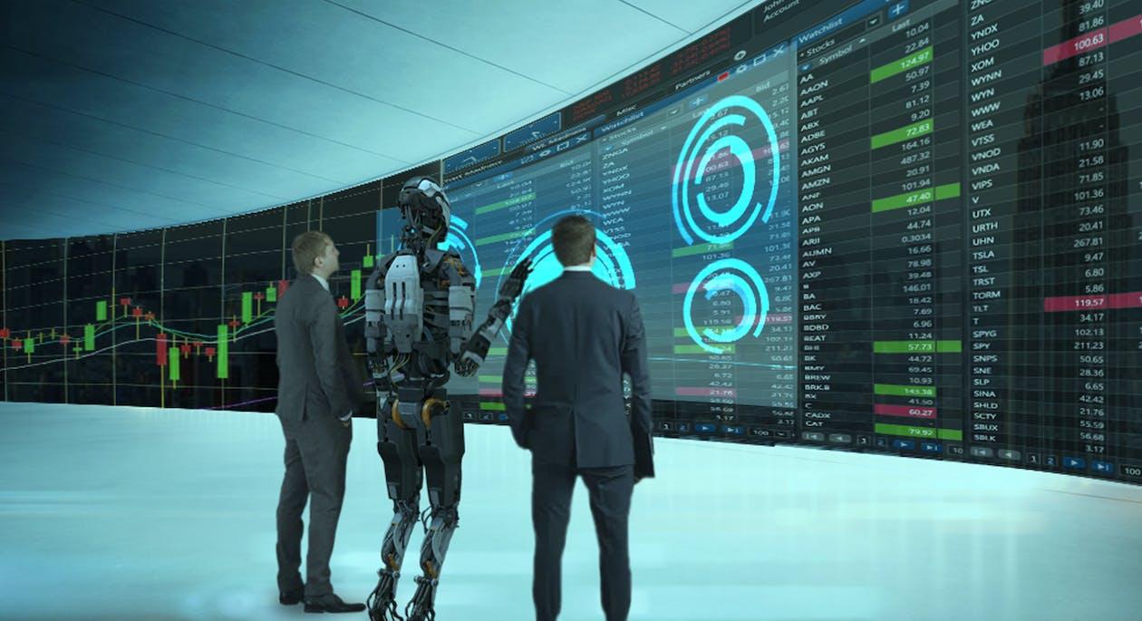 banca, hombre de negocios, inteligencia artificial