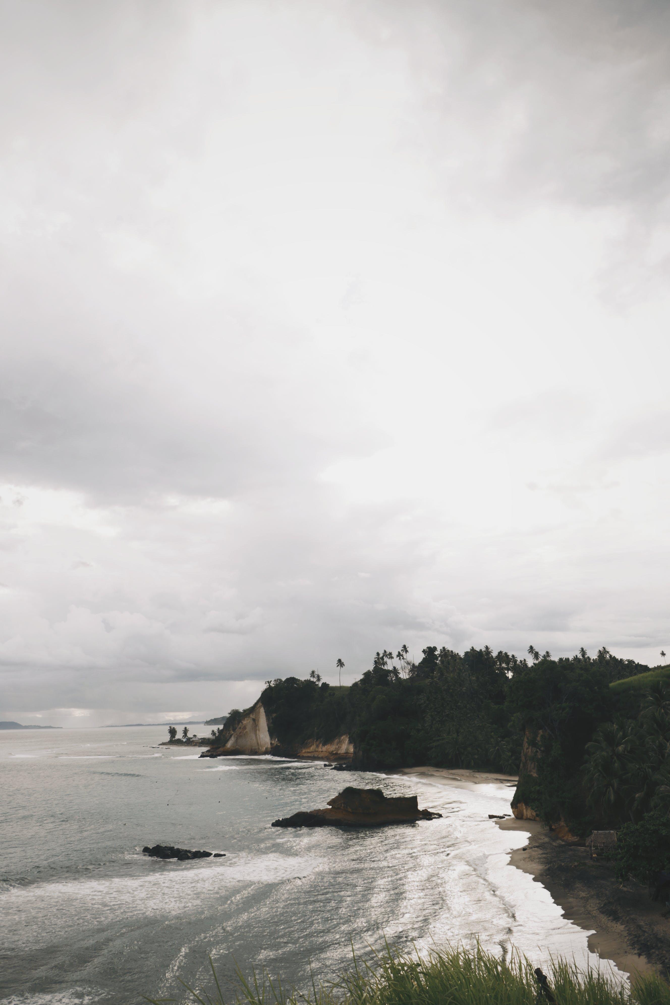 Free stock photo of beach, cliff, cloud, coast