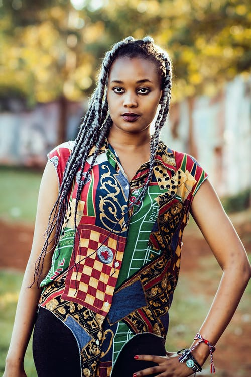 афро-американська жінка, волосина, волосся