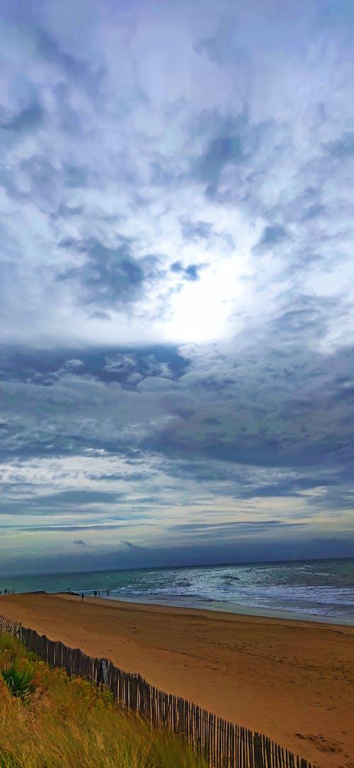 Free stock photo of beach, cloud, morning