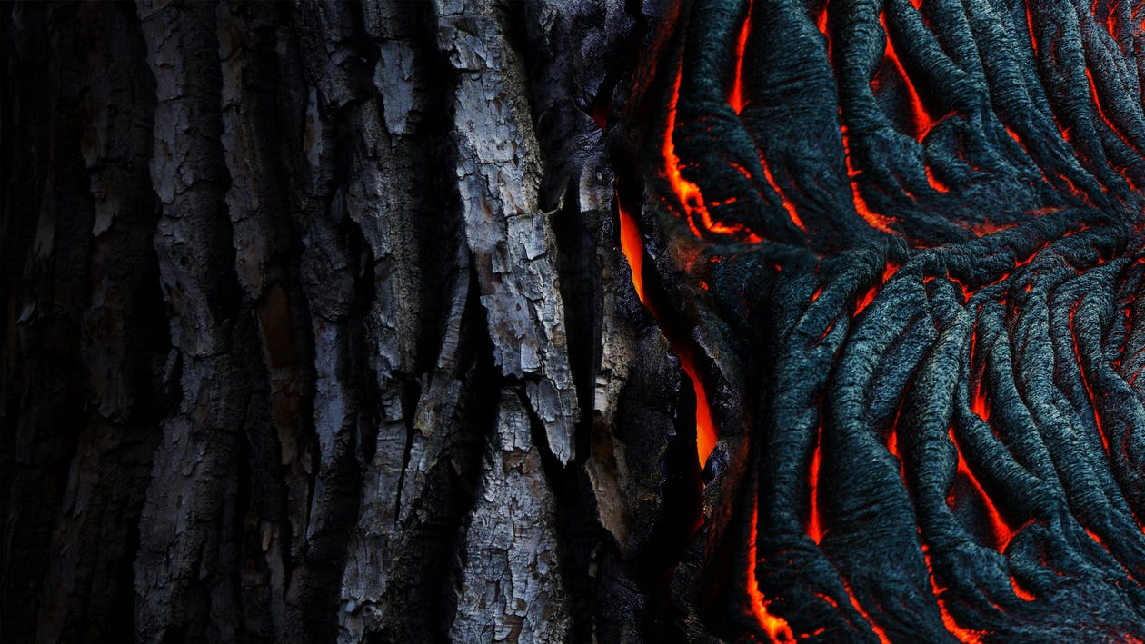 Фотография высохшей лавы