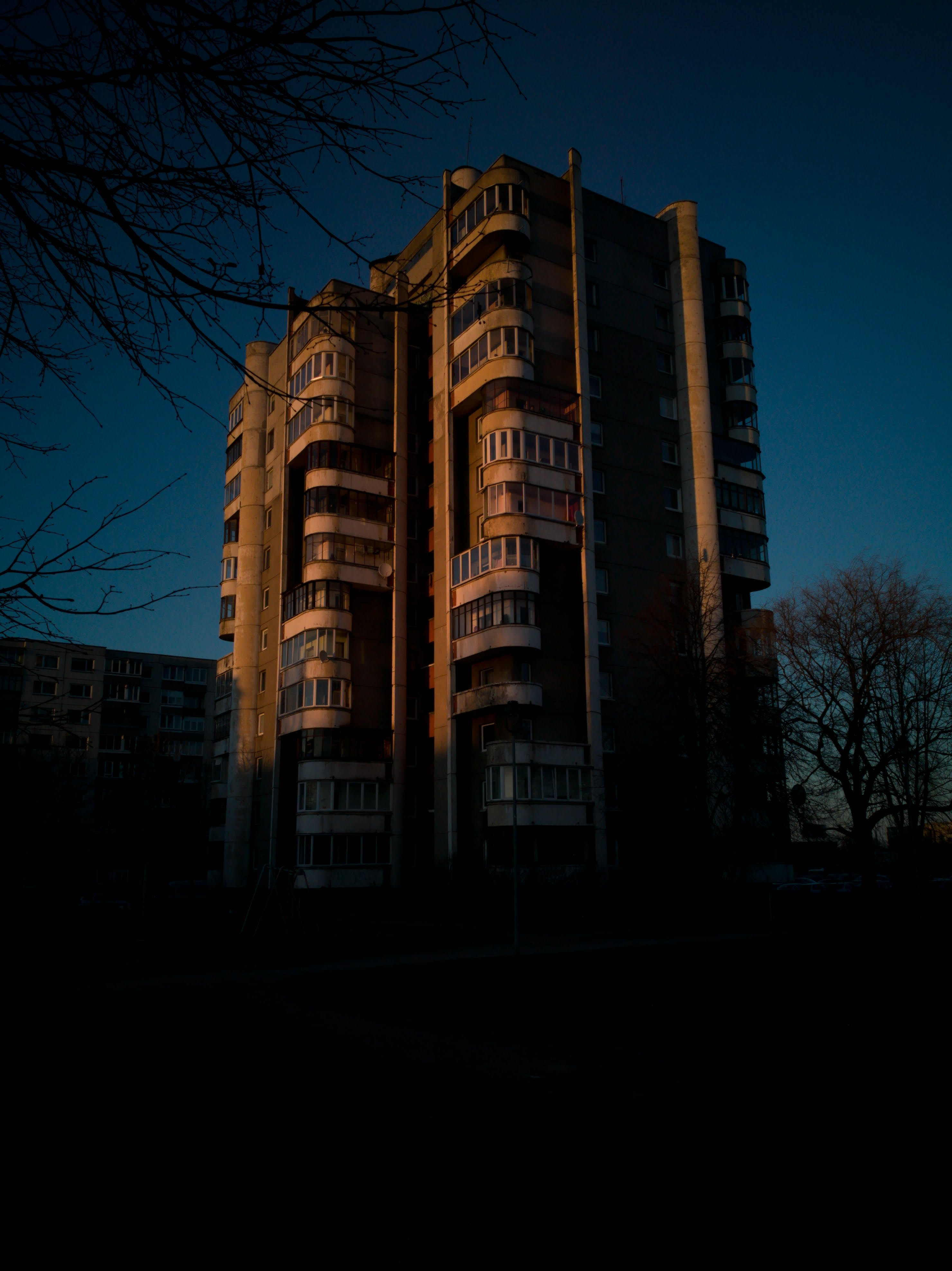 Brown and Beige High Rise Building