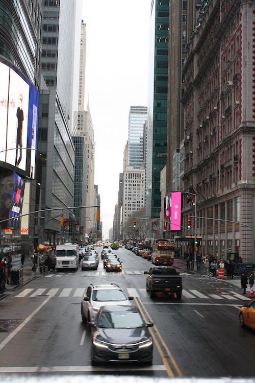 Foto stok gratis cityscape, foto jalanan, hari hujan, kota New York