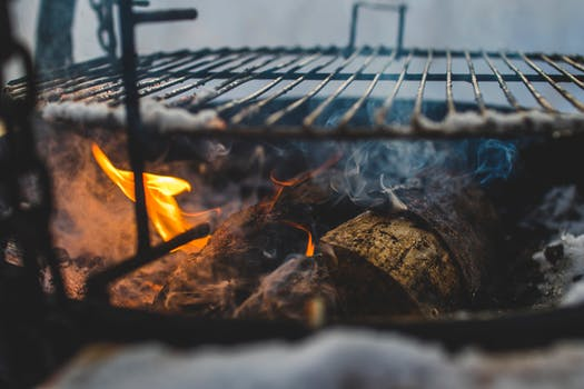 Firewood Below Grill