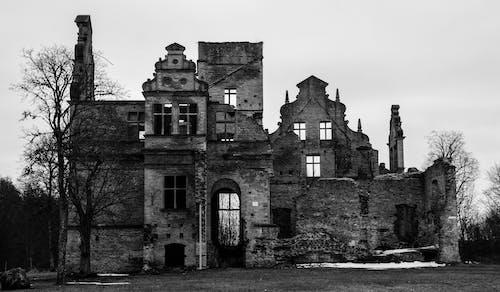 Fotobanka sbezplatnými fotkami na tému architektúra, budova, čierna a biela, deň