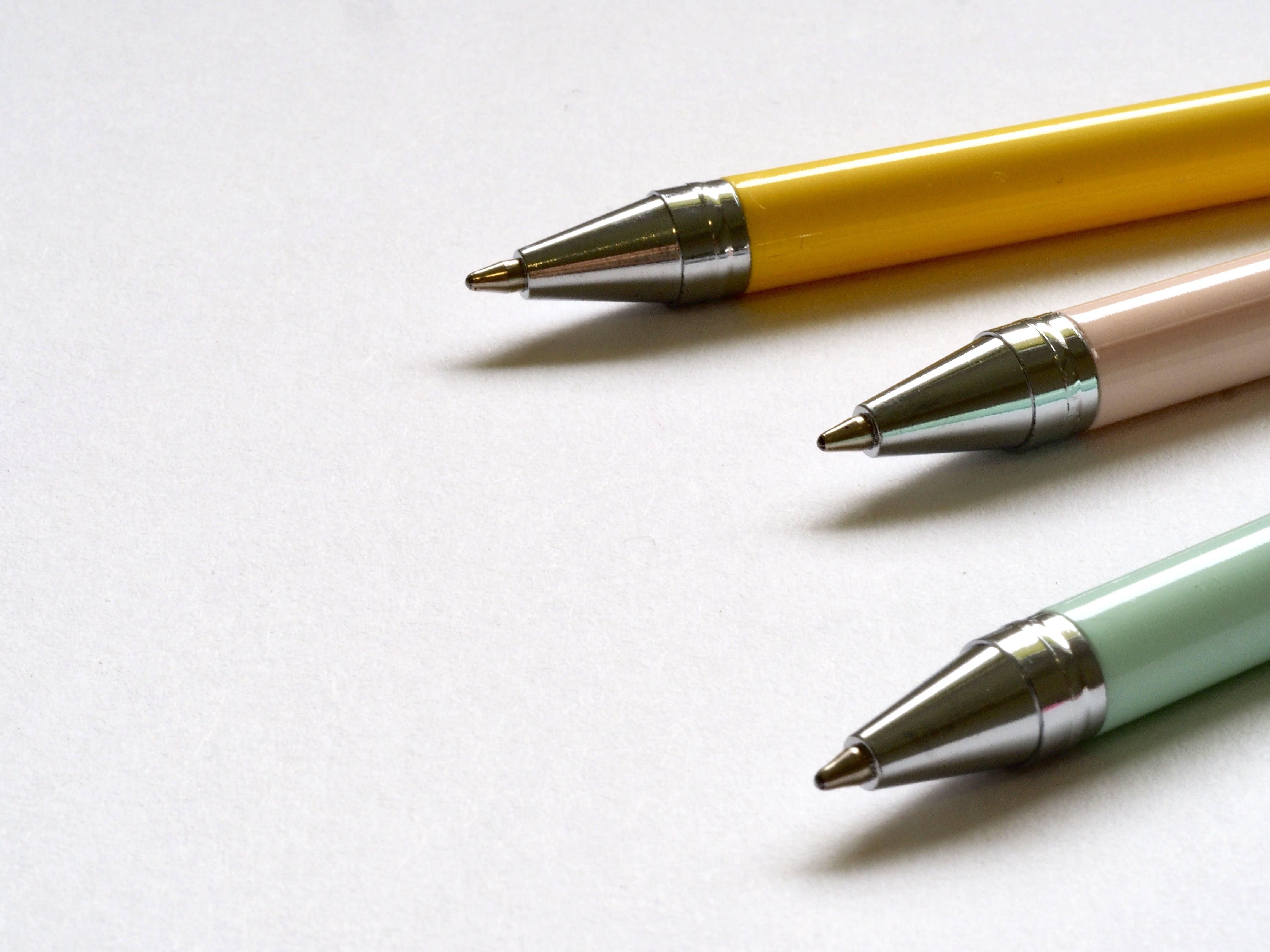 Three Ball-point Pens