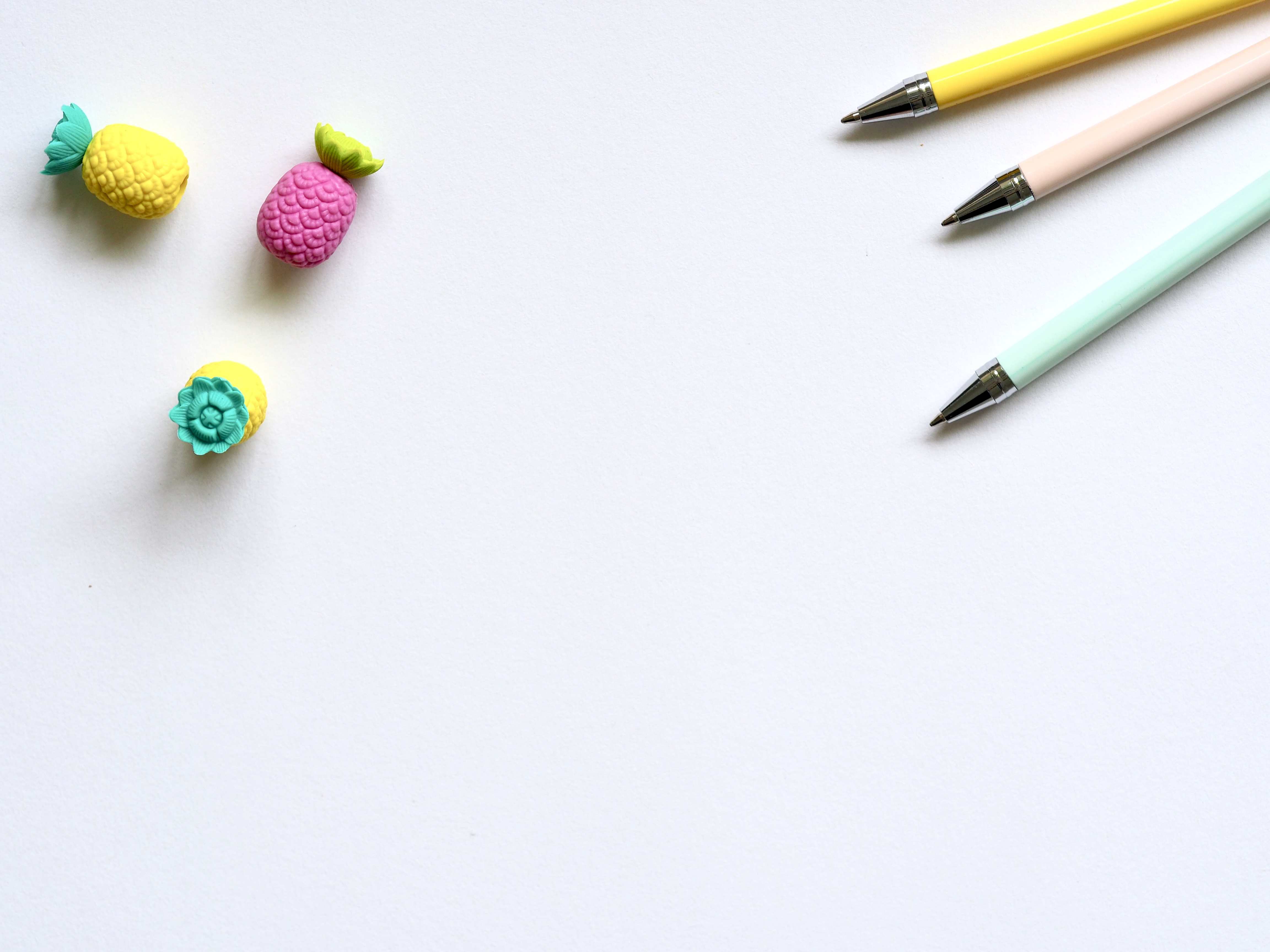 Photo of Three Assorted-color Pencils