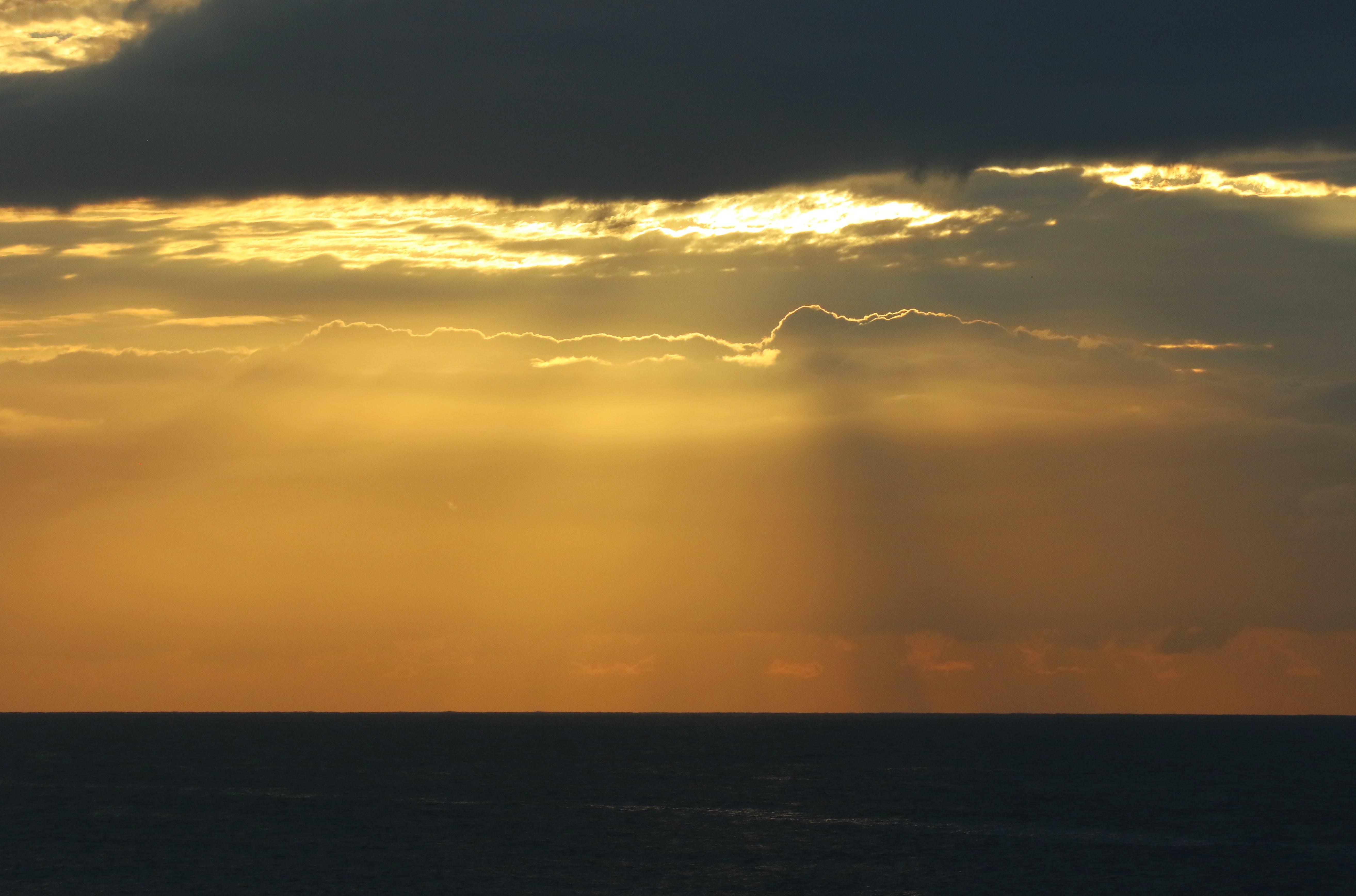 Kostenloses Stock Foto zu abend, dämmerung, dramatisch, horizont